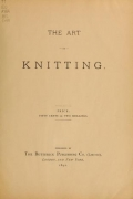 "Cover of ""The Art of knitting"""