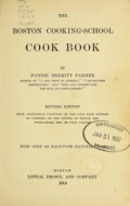 """Cover of """"The Boston cooking-school cook book,"""""""