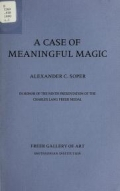 A case of meaningful magic / Alexander C. Soper