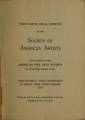 Image of Catalogue of the ... exhibition / Society of American Artists