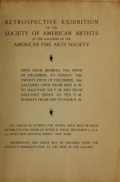 Image of Catalogue of the retrospective exhibition, 1892 / Society of American Artists