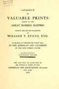 """Cover of """"Catalogue of valuable prints mostly by the great modern masters"""""""