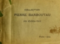 """Cover of """"Collection of Pierre Barboutau arts de'extreme orient"""""""
