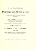 """Cover of """"De luxe illustrated catalogue of paintings and water colors of the Italian, French, Dutch and American schools..."""""""