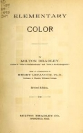 """Cover of """"Elementary color"""""""