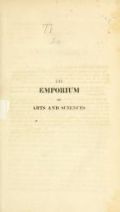 """Cover of """"The Emporium of arts and sciences"""""""