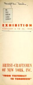 """Cover of """"Exhibition, February 6 to 26, 1959"""""""