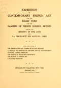 "Cover of ""Exhibition of contemporary French art"""
