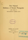 """Cover of """"First national exhibition of pictorial photography"""""""