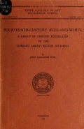"""Cover of """"Fourteenth-century blue-and-white"""""""
