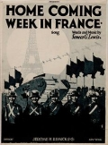 """Cover of """"Home coming week in France"""""""