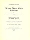 """Cover of """"Illustrated catalogue of oil and water color paintings by Dutch, French, English, American and Italian artists"""""""