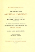 "Cover of ""Illustrated catalogue of the collection of American paintings"""
