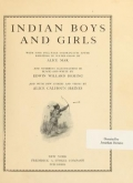 """Cover of """"Indian boys and girls"""""""
