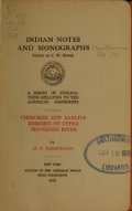 Indian notes and monographs. Miscellaneous series