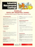 "Cover of ""Industrial maintenance coatings  IronClad® quick dry industrial enamel, including OSHA colors & piping color marking codes"""