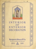 """Cover of """"Interior and exterior decoration"""""""