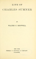 "Cover of ""Life of Charles Sumner,"""