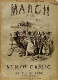 """Cover of """"March of the men of Garlic"""""""
