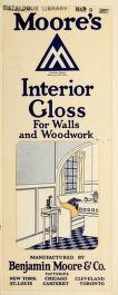 """Cover of """"Moore's interior gloss for walls and woodwor"""""""