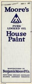 """Cover of """"Moore's pure linseed oil house paint"""""""
