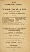 "Cover of ""A new geographical, historical, and commercial grammar"""