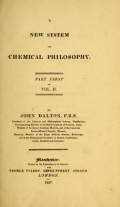 "Cover of ""A new system of chemical philosophy /"""
