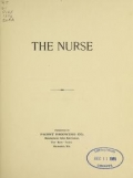 """Cover of """"The nurse."""""""