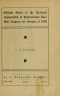 """Cover of """"Official guide of the National association of professional base ball leagues for"""""""