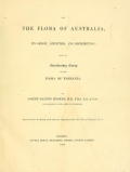 """Cover of """"On the flora of Australia : its origin, affinities, and distribution : being an introductory essay to the flora of Tasmania /"""""""