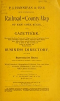 P.J. Hannifan & Co.'s new commercial railroad and county map of New Yort State and gazetteer ..