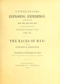 "Cover of ""The races of man and their geographical distribution"""