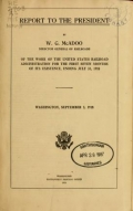 Report to the president by W. G. McAdoo, Director General of Railroads