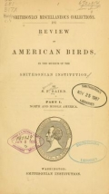 """Cover of """"Review of American birds"""""""