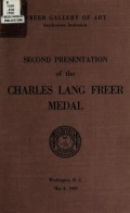 "Cover of ""Second presentation of the Charles Lang Freer medal, May 3, 1960"""