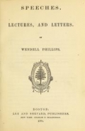 "Cover of ""Speeches, lectures, and letters"""