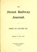 """Cover of """"The Street railway journal"""""""