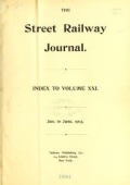 "Cover of ""The Street railway journal"""