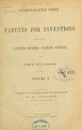 """Cover of """"Subject-matter index of patents for inventions issued by the United States Patent office from 1790 to 1873, inclusive ... /"""""""