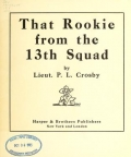 "Cover of ""That rookie from the 13th Squad"""