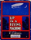 """Cover of """"Up in a flying machine"""""""