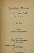 Valentine's manual of the city of New York