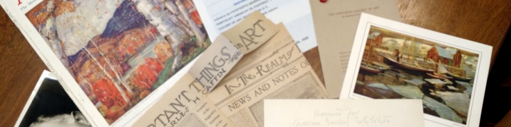 image of magazines, photos and clippings from the Corcoran artist files collection
