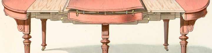 illustration of a wooden table with removable pieces