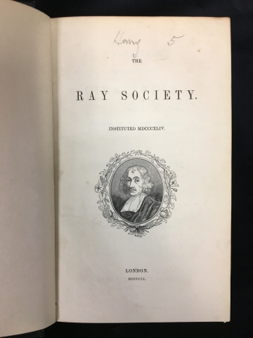 Title page of A monograph on the Sub-class Cirripedia
