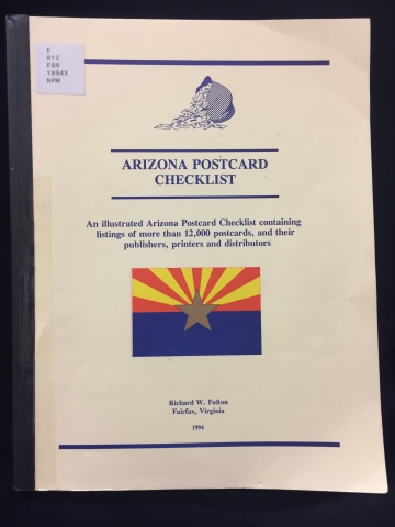 Cover of Arizona Postcard Checklist
