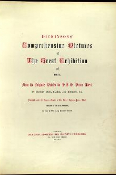 """Cover of """"Dickinsons' comprehensive pictures of the Great Exhibition of 1851 /"""""""