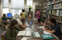 Interns at work at the Smithsonian Libraries