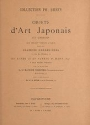 "Cover of ""Collections Ph. Burty, Objects d'art Japonais et Chinois que seront vendus a Paris..."""