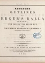 "Cover of ""Outlines to Buerger's ballads : Leonora, the song of the brave man, and the Parson's daughter of Taubenhayn."""